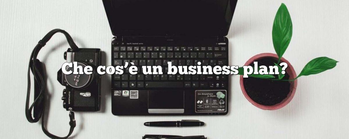 Che cos'è un business plan?
