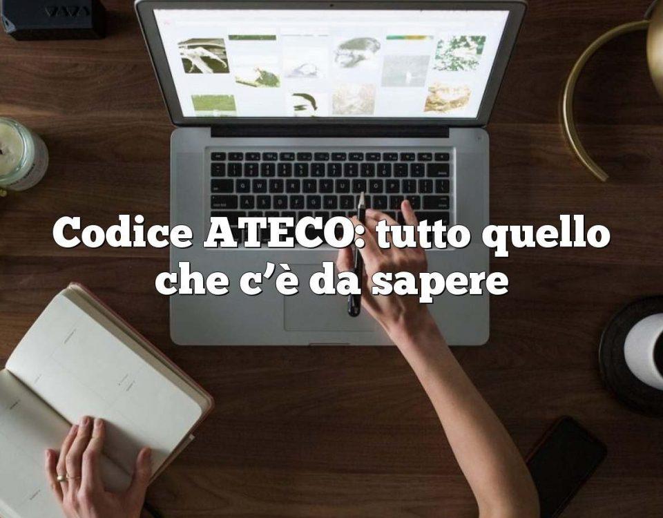 Codice ATECO: tutto quello che c'è da sapere