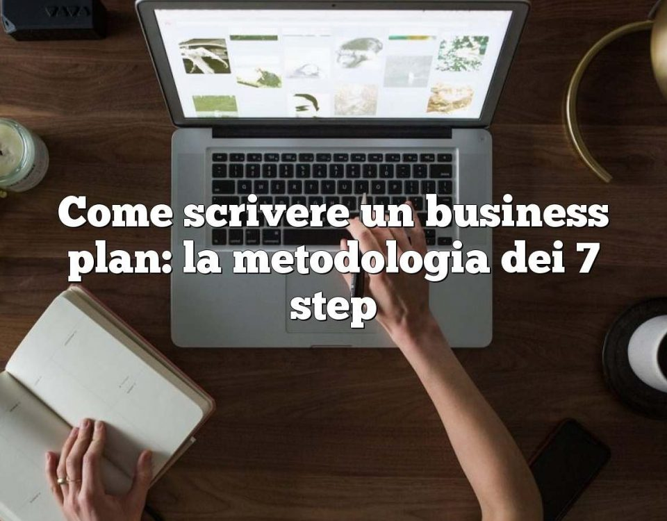 Come scrivere un business plan: la metodologia dei 7 step
