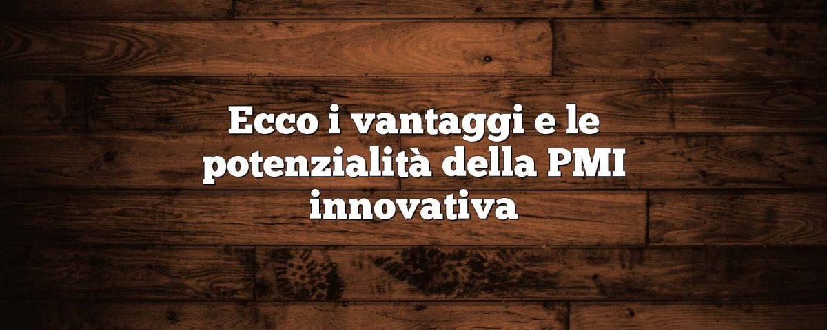 Ecco i vantaggi e le potenzialità della PMI innovativa