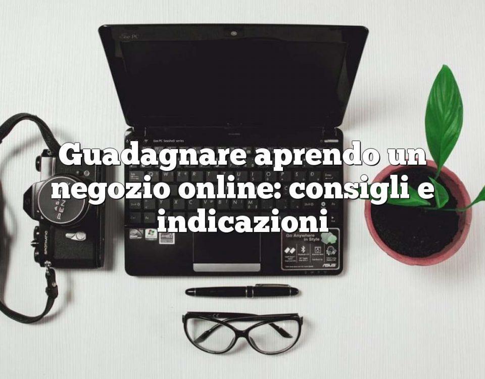 Guadagnare aprendo un negozio online: consigli e indicazioni