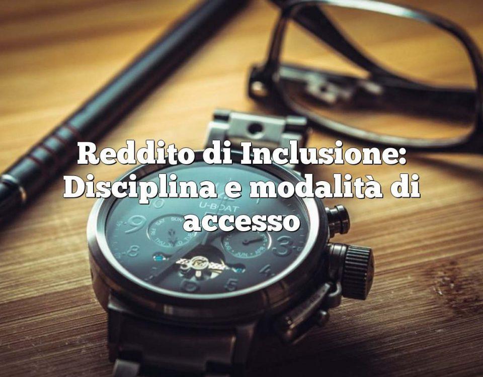 Reddito di Inclusione: Disciplina e modalità di accesso