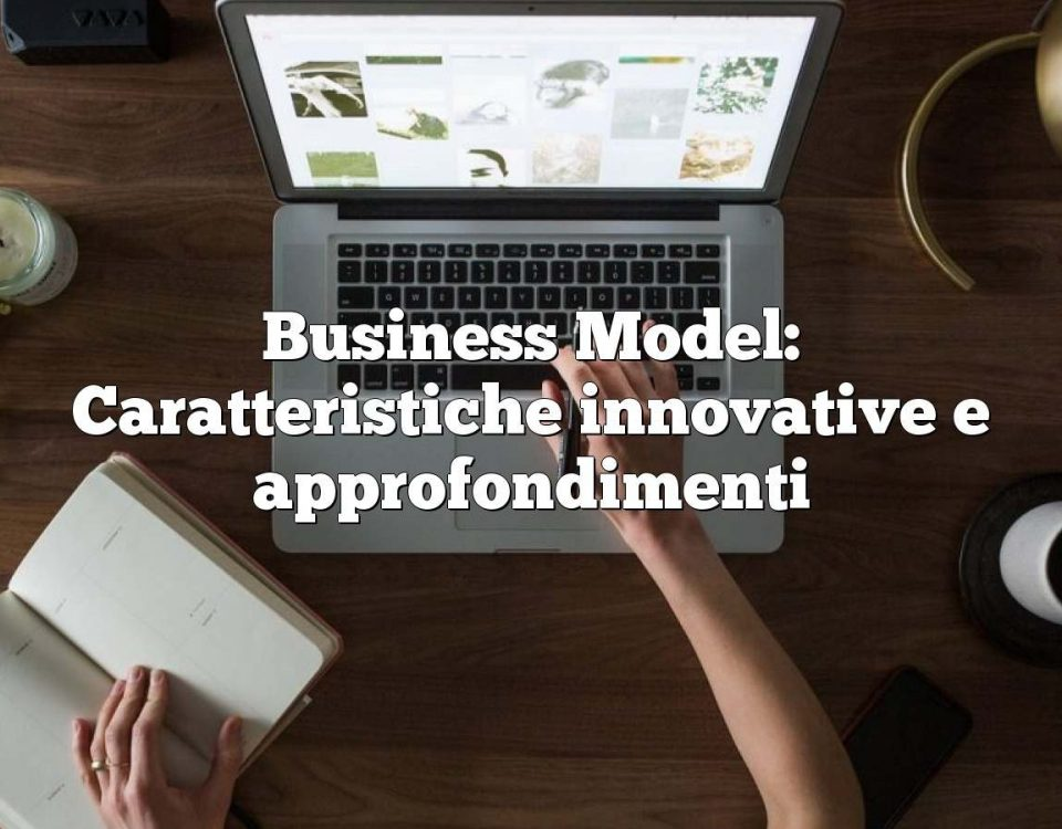 Business Model: Caratteristiche innovative e approfondimenti