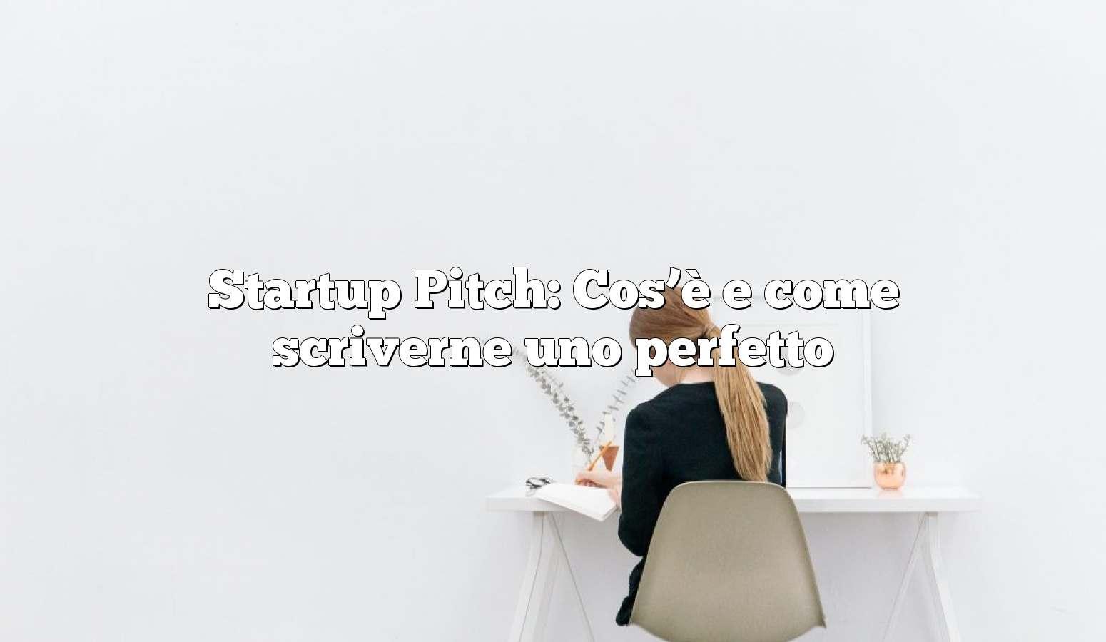 Startup Pitch: Cos'è e come scriverne uno perfetto