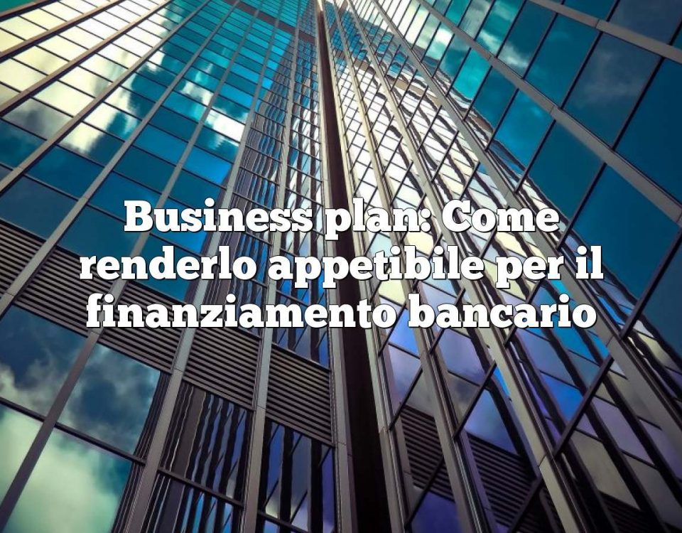 Business plan: Come renderlo appetibile per il finanziamento bancario