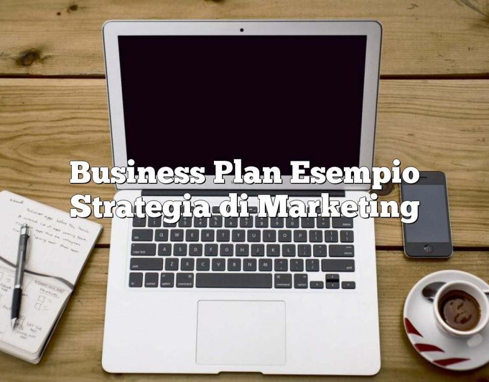 Business Plan Esempio Strategia di Marketing