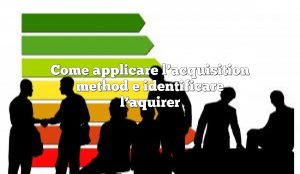 Come applicare l'acquisition method e identificare l'aquirer
