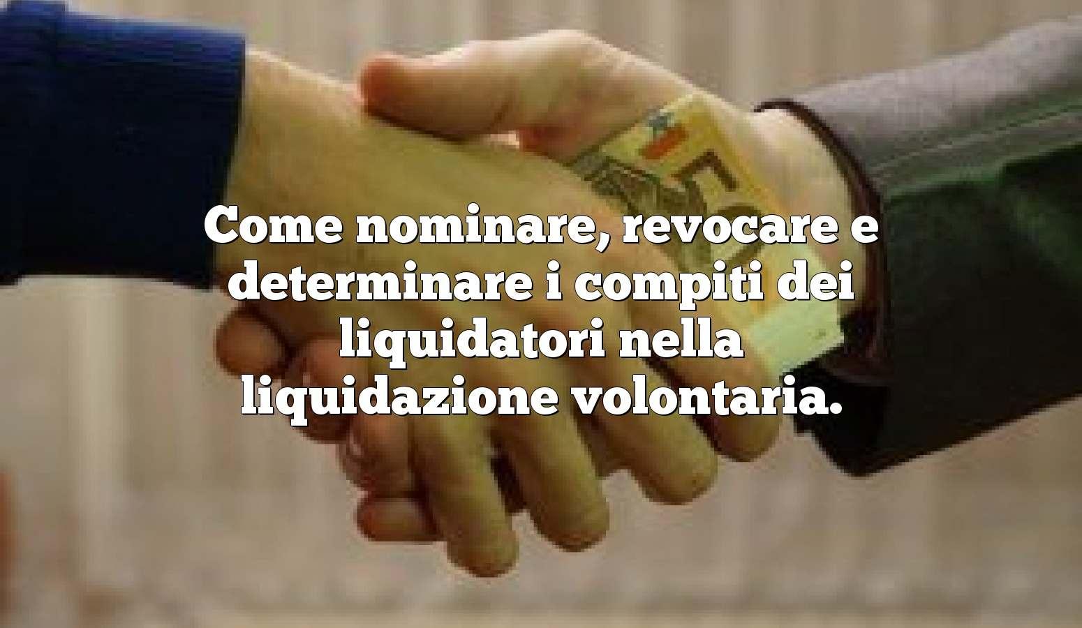 Come nominare, revocare e determinare i compiti dei liquidatori nella liquidazione volontaria.
