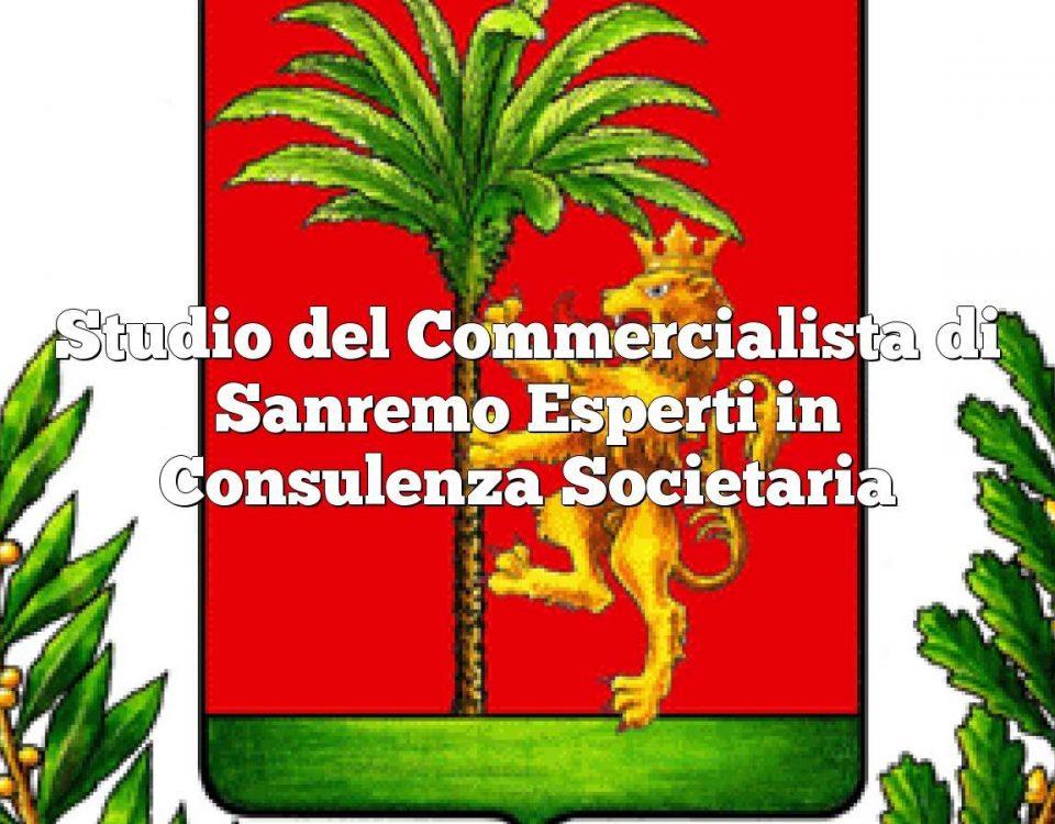 Studio del Commercialista di Sanremo Esperti in Consulenza Societaria