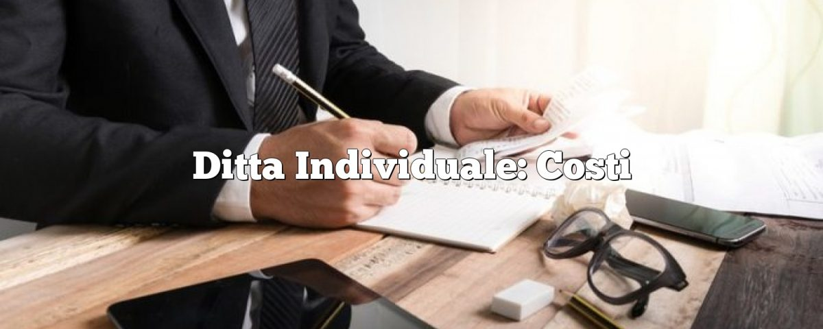 Ditta Individuale: Costi