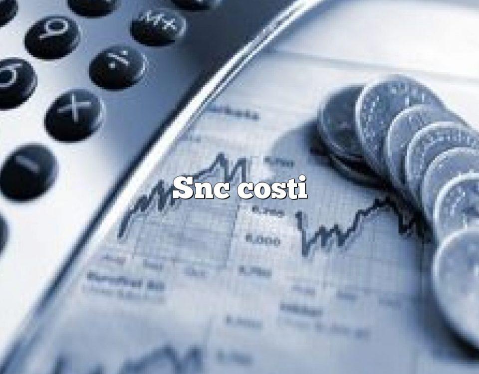 Snc costi