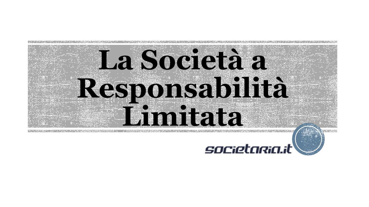 Società a reponsabilità limitata srl