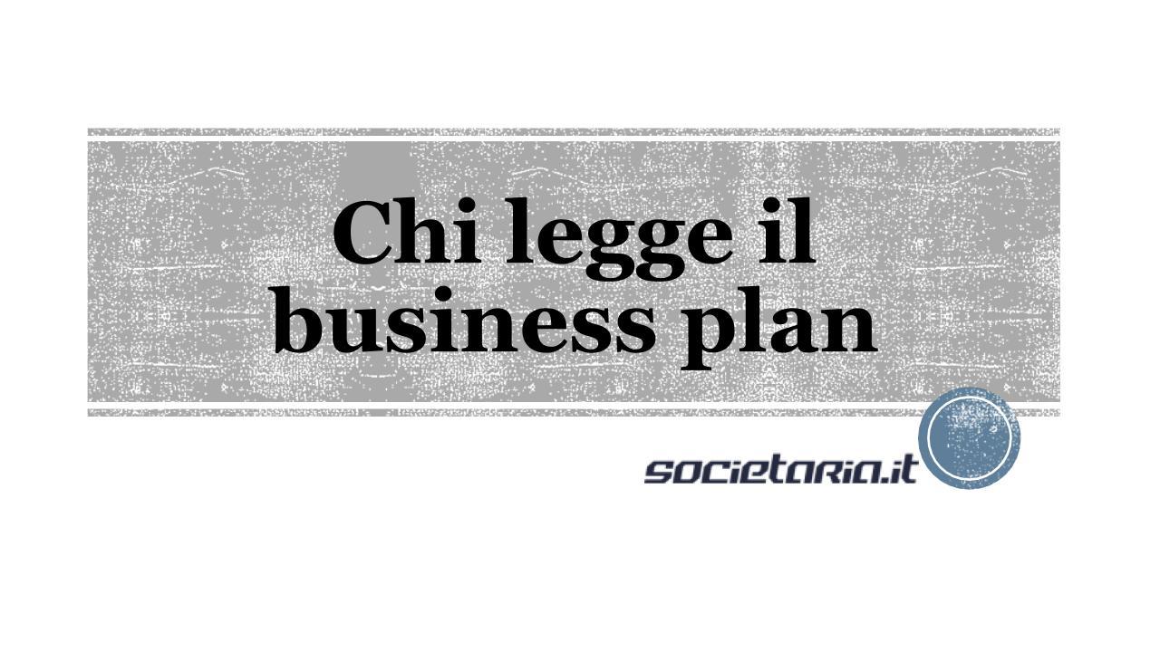 Chi legge il business plan