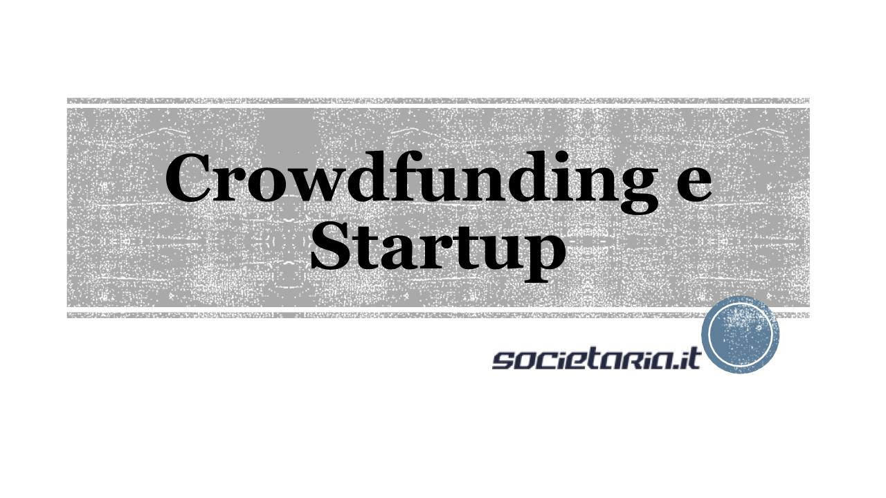 Crowdfunding e startup