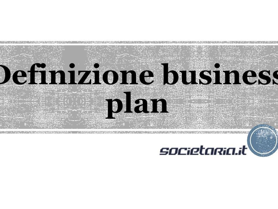 Definizione business plan