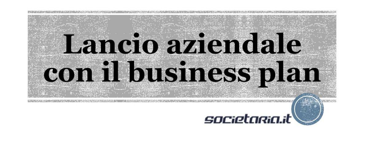 Lancio aziendale con il business plan