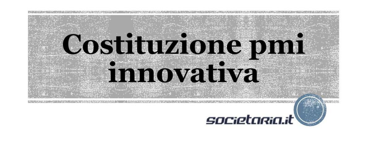 Costituzione pmi innovativa
