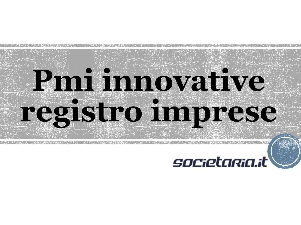 Pmi innovative registro imprese