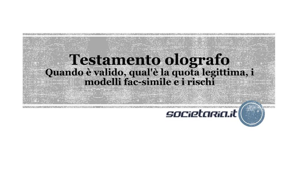Testamento olografo