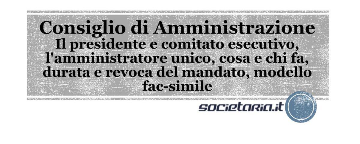 CDA - Consiglio di Amministrazione